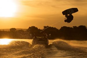 wakeboarding-at-sunset